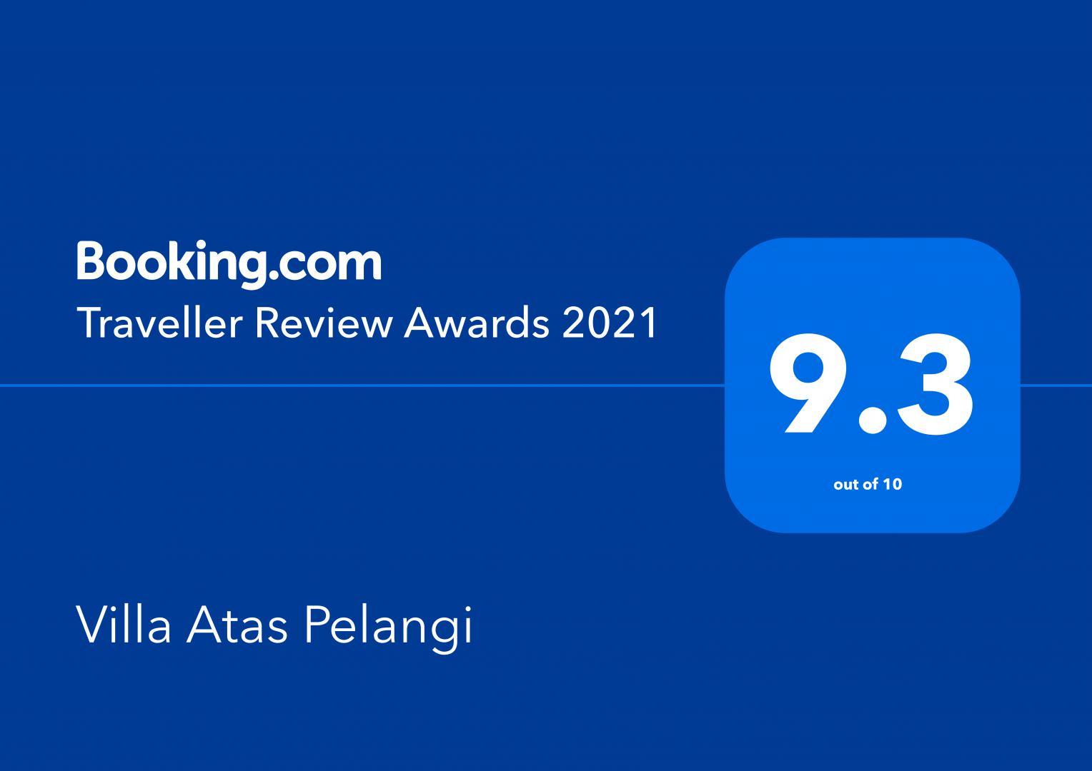 Booking.com Traveller Review Awards 9.3