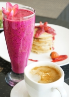 Coffee, juice and pancakes, best Are Guling breakfast