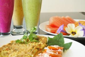 All elements of a perfect breakfast at Villa Atas Pelangi