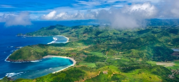 South Lombok coastline as seen from the sky