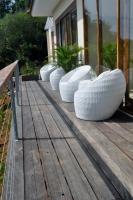 Seats outside of Villa Atas Pelangi to enjoy the view