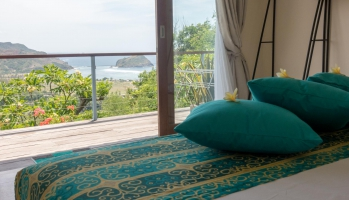 Are Guling bay as seen from the bed