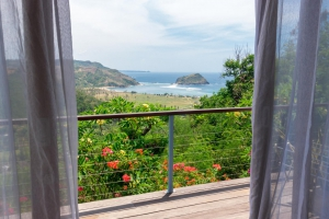 Amazing view from the bedroom in Villa Atas Pelangi