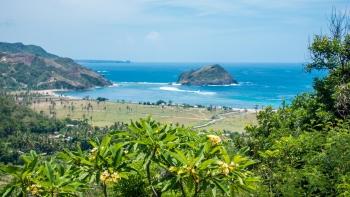 South Lombok beach view from Villa Atas Pelangi