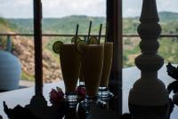 Fresh juices with a extraordinary background